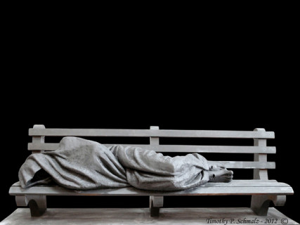 Jesus the Homeless sculpted by Timothy Schmalz (used with permission)