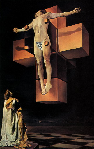 Salvador Dali, Corpus Hypercubus, 1954